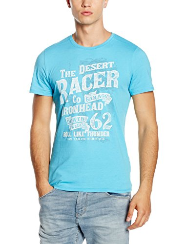 Tom Tailor Tee Print Package, T-Shirt Uomo Blau (coastal blue 6945)