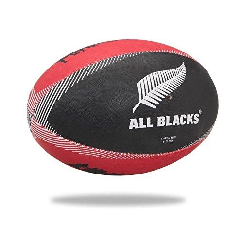 GILBERT Ballon de rugby SUPPORTER - All Blacks - Taille Midi -