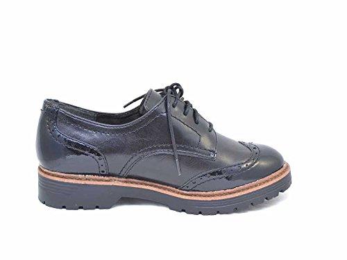 A+w  8-8-23760-27/001-001, Chaussures de ville à lacets pour femme Noir - 001black