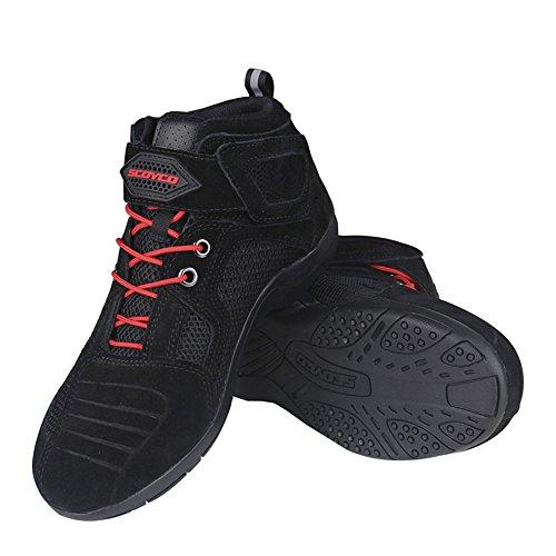 Botas de Montar a Caballo de la Motocicleta Zapatos Ocasionales de la...