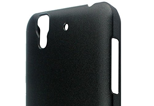 Pudini Slim Series Case Cover for Micormax Yu Yureka - Free Screenguard - Black