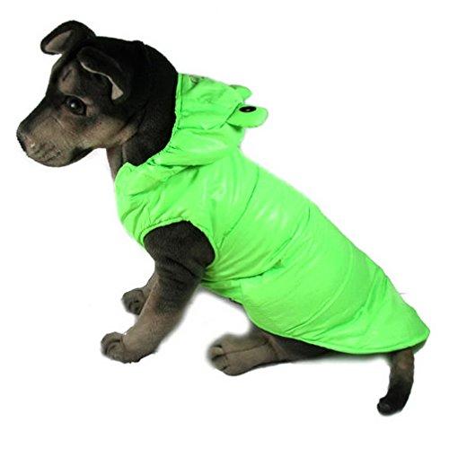 ranphy Puppy Kleidung für mittlere Doggy Frosch Prince Kostüm Tier/Katze Winter Fell Kapuzen Hund Kostüm (Prince Boys Kostüme)