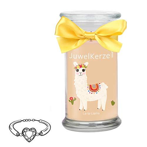 JuwelKerze La-La Llama - Duftkerze im Glas mit Schmuck (Limitierte Edition)