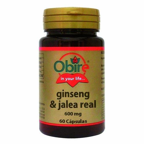 Ginseng y Jalea Real 60 cápsulas de 600 mg de Obire