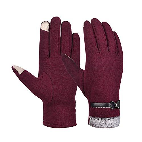 Vbiger Touchscreen Handschuhe Damen Fahrradhandschuhe Winterhandschuhe Damen Warme Handschuhe Winter Handschuhe mit Fleecefutter