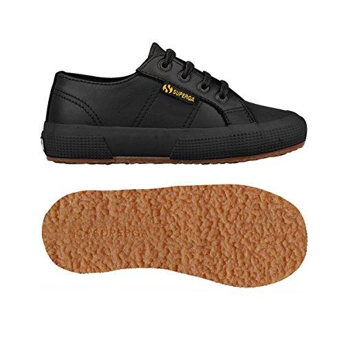 Superga 2750 - Microfiberpuj, Unisex-Kinder Sneakers Schwarz (Full Black)