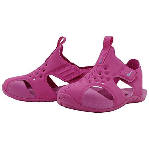 Nike Unisex Kids 'Freshener Sandalo Sonnenstrahl Schützen (PS) Flip Flops, Schwarz, Hyper Magenta/Royal Pulse - Größe: 19 EU (Spandex Für Nike Mädchen)