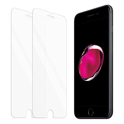 Zenmo 2 pack vetro temperato iphone 7 , pellicola protettiva premium per iphone 7 (4,7 pollici) compatibile con 3d touch