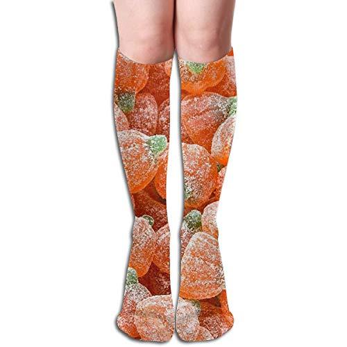 Halloween sauer Gummibärchen Candy Design elastische Mischung lange Socken Kompression Kniestrümpfe (50cm) für den Sport