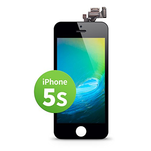GIGA Fixxoo iPhone 5s LCD Touchscreen Retina Display Ersatz in Schwarz für Einfache Reparatur, FaceTime Kamera, 100% Kompatibel mit Apple (kein Set)