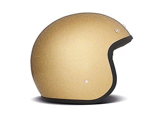 DMD Casco Moto, Unisex, Glitter Oro, L