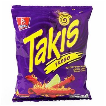 Takis Fuego Hot Chili Pepper & Lime Tortilla Chips 4z by Barcel