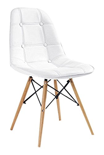 Beat Collection Vintage 16 - Silla para comedor, 45 x 46 x 50 cm, color blanco