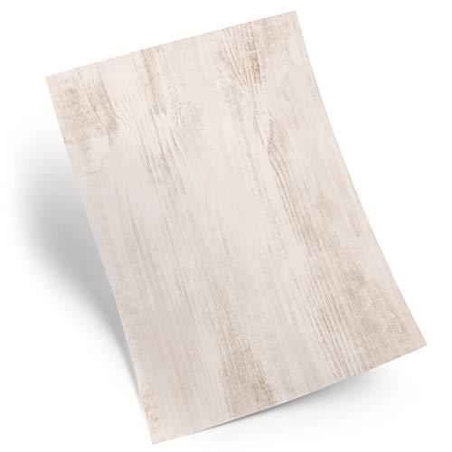 Logbuch-Verlag 25 Blatt Holz-Optik Briefpapier Motivpapier Holz Struktur DIN A4 Druckerpapier Papier braun hell grau Natur alt Vintage