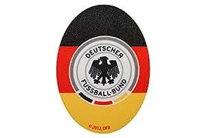 Deutscher Fussball-Bund 8 cm * 11 cm Bügelbild Aufnäher Applikation DFB Fussball Adler bunt Flicken