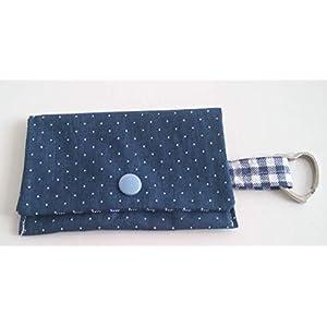 Kotbeutelspender Hundebeutel blau Punte Handarbeit Handmade
