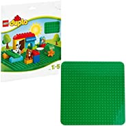 LEGO Classic Green Baseplate 2304 Supplement for Building, Playing, and Displaying LEGO Creations, 10cm x 10cm