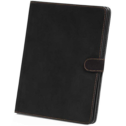 HSRpro Matt Hülle für Apple iPad 2 - iPad 3 - iPad 4 - Tasche Cover Case Etui Schutzhülle mit Inner Schale und Guten Haltegefühlen in Schwarz (Bookbook Ipad 3)