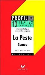 LA PESTE (1947), ALBERT CAMUS. 10 textes expliqués de Katia Montesinos