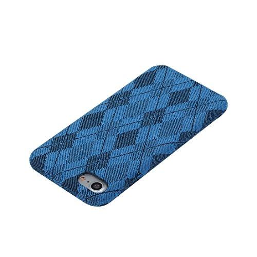 iPhone Case Cover Pour iPhone 7 diamant motif en treillis TPU étui de protection arrière ( Color : Yellow ) Blue