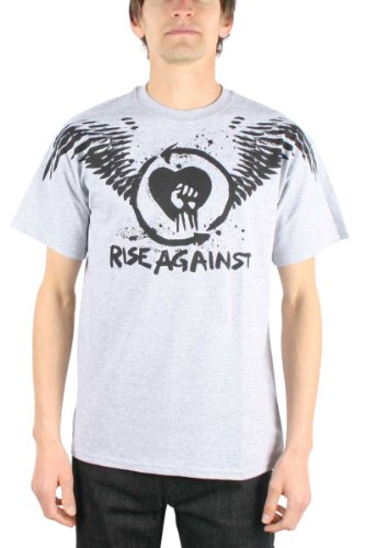 Rise Against - Top - Uomo grigio Small