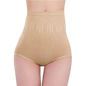 PPangUDing Unterhosen Shapewear Damen Sexy High Waist Eng Hip Raise Elastische Blickdicht Figurformend Bauch Control Body Shaper Slips Abnehmen Hosen Miederhose Bodysuit (Haut)