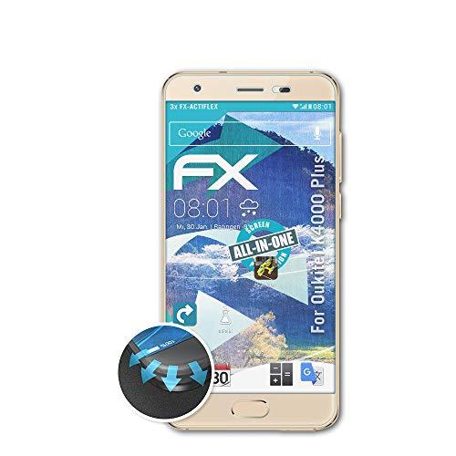 atFolix Schutzfolie passend für Oukitel K4000 Plus Folie, ultraklare & Flexible FX Bildschirmschutzfolie (3X)