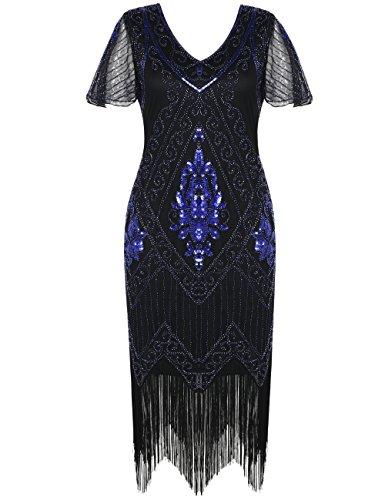 - Plus Size Perlen Flapper Kleid