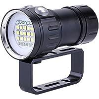 Lampe-Torche de Plongée 18000 Lumen IPX8 de Plongée Allume des Lumières Submersibles de 500M LED sous-Marine de Lampe-Torche pour Les Sports sous-Marins Extérieurs