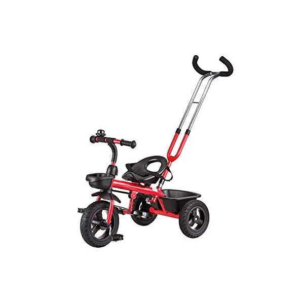 LRHD Baby Bicycle 3 Wheels, Baby Stroller, Children Tricycle, 3-in-1 Children Tricycle, Bicycle, 1-5 Year Old Children Pushing and Riding Bicycle, Children, Birthday Gift LRHD 1.[ Perfect Growth Partner]: Tricycle is suitable for children between 18 months and 6 years old. Four riding styles: baby tricycle, steering tricycle, learning to ride tricycle and classic tricycle. Let this tricycle grow up with your children. 2. [Stable safety]: tricycles for children are equipped with safety belts to increase the safety of children; In addition, the double braking system provides greater protection for children. It also has a foldable foot pedal that can be unfolded/folded when you need it. 3. [[Best Gift] Two-in-one Bicycle is the best birthday gift for a baby to learn to ride a bicycle. Excellent indoor baby walker toys can cultivate children's balance ability and help children acquire balance, steering, coordination and self-confidence from an early age. 1