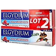 Elgydium Kids Protection Caries Dentifrice Grenadine Lot de 2 x 50 ml