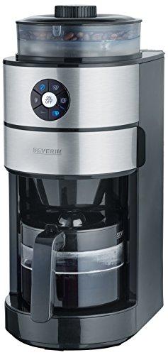 SEVERIN KA 4811 Kaffeemaschine mit Mahlwerk, Schwarz, Metallisch