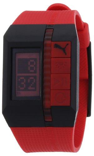 Puma Time - A.PU910511003 - Montre Homme - Quartz - Digitale - Chronographe - Alarme - Temps intermédiaires - Eclairage - Bracelet Résine Rouge