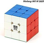 CuberSpeed MoYu Weilong WR M 2020 stickerless 3x3 Speed Cube Weilong WRM v2 Magnetic Speed Cube