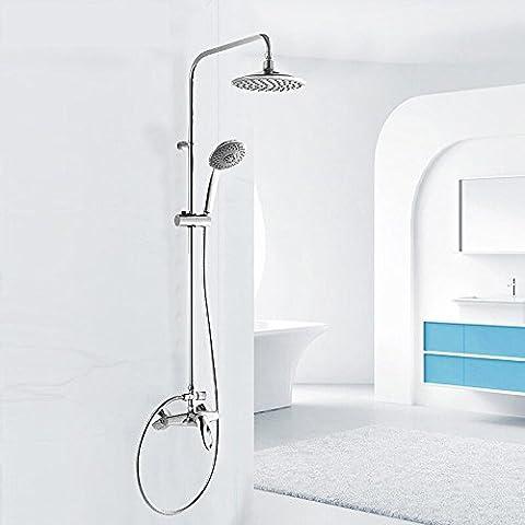LLYY-Baño hogar moderno ducha circular rociador llave de mano ducha de latón