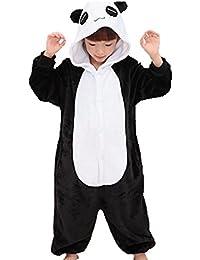 Niños Animal Onesie pijama una pieza Panda, Rosa roja