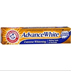 ARM & HAMMER Advance White Extreme Whitening with Stain Defense Toothpaste, 6 oz (Pack of 6)