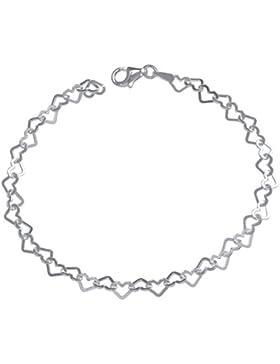 Vinani Damen-Herz Armband Bettelarmband für Charm Anhänger Sterling Silber 925 BCH