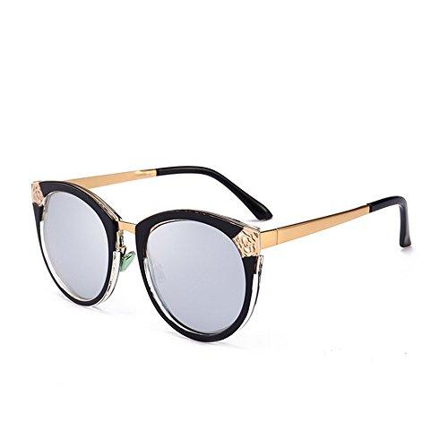 Aihifly Sonnenschutz Stilvolle Retro Hohl Design UV Schutz Sonnenbrille für Frauen (Farbe : C2)
