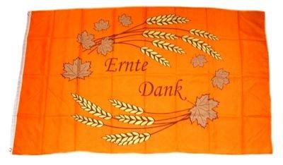 Flagge Fahne Ernte Dank 90 x 150 cm FLAGGENMAE®
