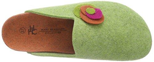Hans Herrmann Collection Hhc, Pantoufles non doublées femme Vert - Grün (verde -61)
