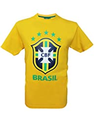 T-shirt Seleçao Brasil - Collection officielle Equipe du BRESIL de football - Taille adulte homme