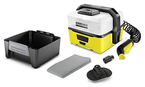 Kärcher Mobile Outdoor Cleaner OC 3 Pet Box (Wassertankvolumen: 4 l, Lithium-Ionen-Akku, abnehmbarer Wassertank, schonender Niederdruck, Kegelstrahldüse, Fellreinigungsbürste, Viskosehandtuch)