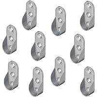 Gedotec Seitenwand Schrankrohrlager OVAL Kleiderstangen-Halterung aus Metall - Modell OVA für Garderobenstange | Schrankrohrhalter für Ovalstange | Stahl vernickelt | 10 Stück