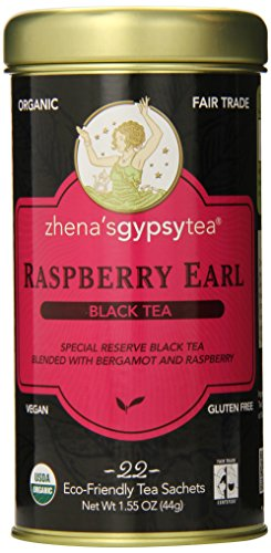 Zhena's Gypsy Tea, Raspberry Earl Black Tea, 22 Tea Sachets, 1.55 oz (44 g)
