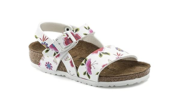 BIRKENSTOCK Isabella Kids China Flowers White Schmale Weite