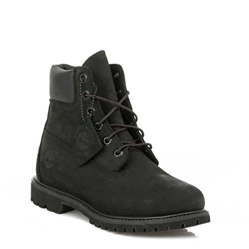 Damen Schwarz Premium 6 Boots inch Stiefel Black Waterbuck black 4wrZaf4qx