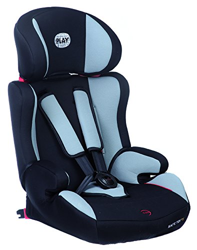 Play Safe Ten Fix - Silla de coche, grupos 1-2-3, color negro/gris