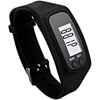 Toamen Best Fitness Tracker, Activity Tracker, Pedometer, Step Counter, Distance, Calorie Counter. Used for Walking or Running. (Black)