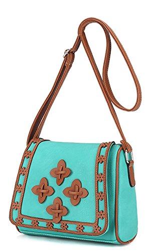 Frauen-kleine Blumen-Kissen-Beutel-Schulter-Kurier-Beutel-Kreuz-Körper-Beutel-Art- Und Weisetendenz Der Handtaschen Green